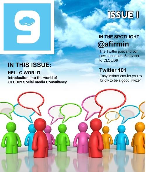 Contoh tampilan sampul majalah online yang dibuat menggunakan OpenZine