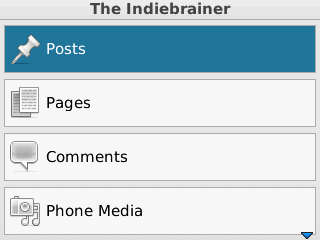 Screenshot WordPress for Blackberry